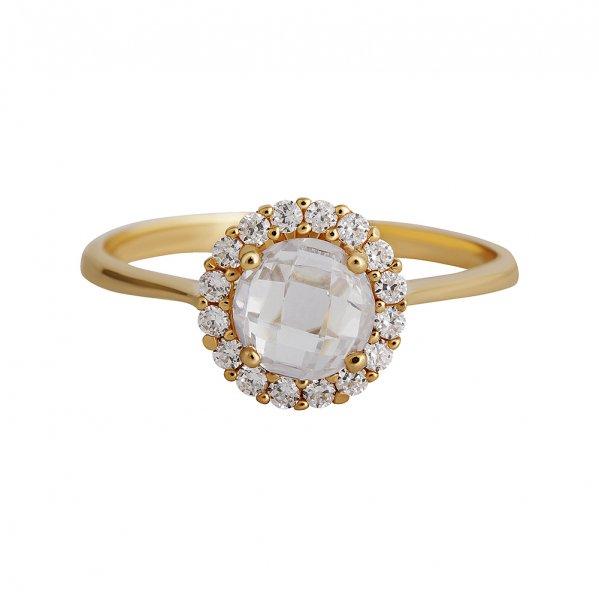 Levně Prsten se syntetickými kameny 226-087-0849 49-1.75g