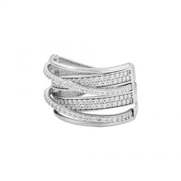 Prsten se syntetickými kameny 326-226-1354