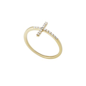 Prsten se syntetickými kameny 226-115-3459