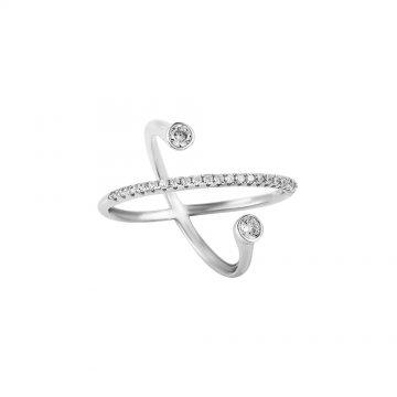 Prsten se syntetickými kameny 126-391-0496