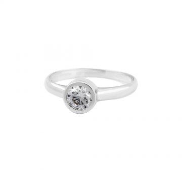 Prsten soliter se syntetickým kamenem 323-087-0025