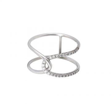 Prsten se syntetickými kameny 126-187-6011
