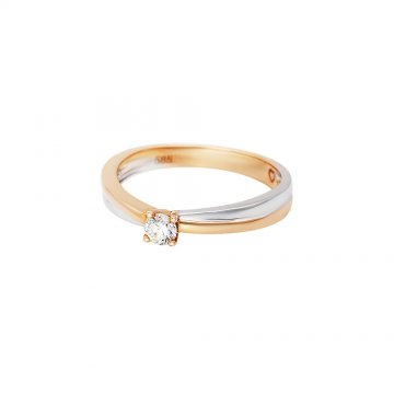 Prsten soliter s briliantem 514-300-0144