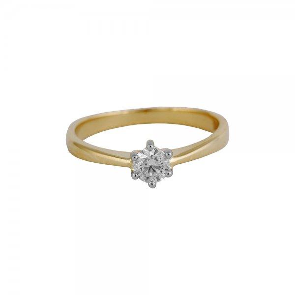Prsten soliter s briliantem Valentýna 214-356-5625 55-1.75g
