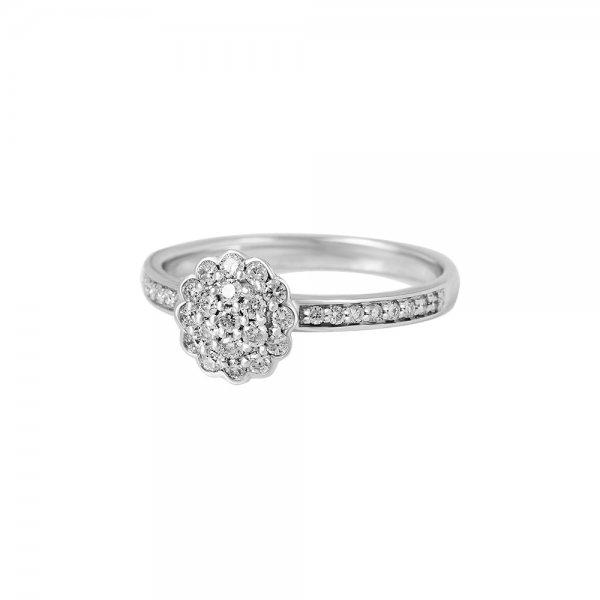 Prsten s brilianty 324-430-4870 58-2.40g