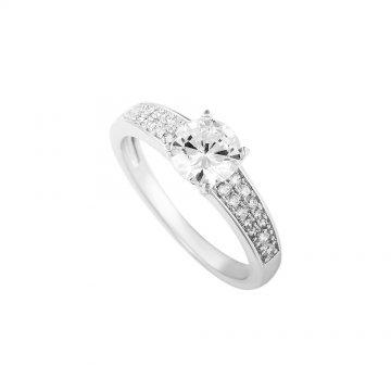 Prsten se syntetickým kamenem 123-391-0010