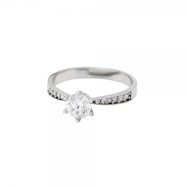 Prsten soliter se syntetickým kamenem 323-185-2190 59-2.30g