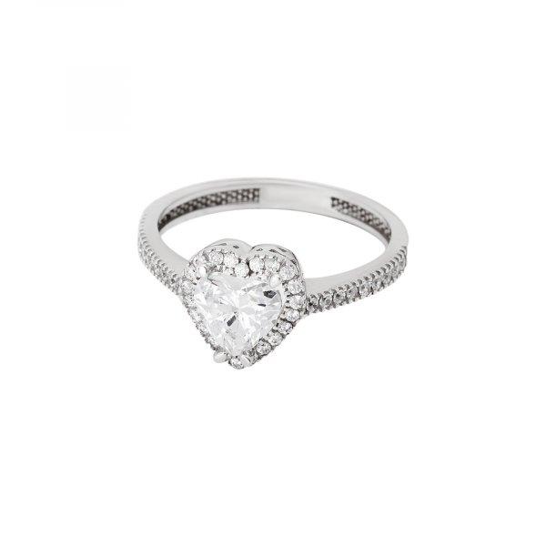 Levně Prsten se syntetickými kameny 326-588-0010 55-2.15g