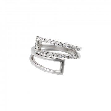 Prsten se syntetickými kameny 126-391-0478