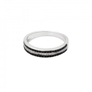 Prsten se syntetickými kameny 126-386-0524