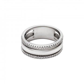 Prsten se syntetickými kameny 126-386-3273