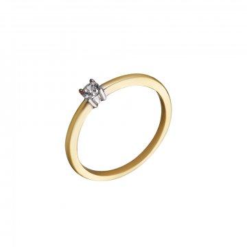 Prsten soliter se syntetickým kamenem 223-532-0029