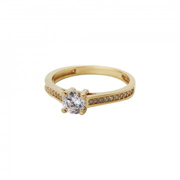 Prsten soliter se syntetickým kamenem 223-532-0135