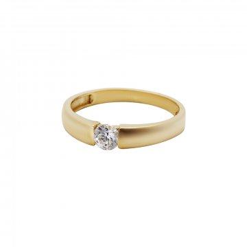Prsten soliter se syntetickým kamenem 223-532-0227