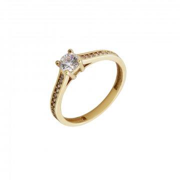 Prsten soliter se syntetickým kamenem 223-532-1347