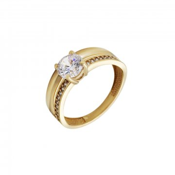 Prsten soliter se syntetickým kamenem 223-532-2277