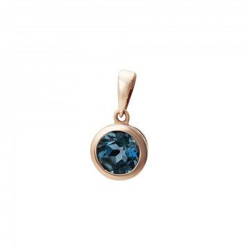 Přívěsek s london blue topazem 544-772-06413L