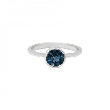 Prsten s london blue topazem 324-772-413L