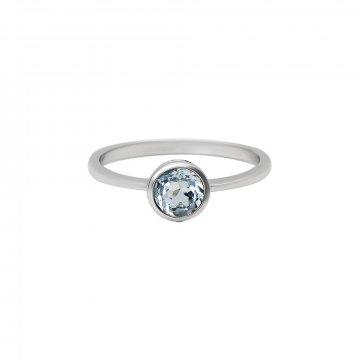 Prsten s modrým topazem 324-772-413T