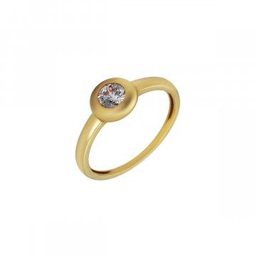 Prsten soliter se syntetickým kamenem 223-588-0146