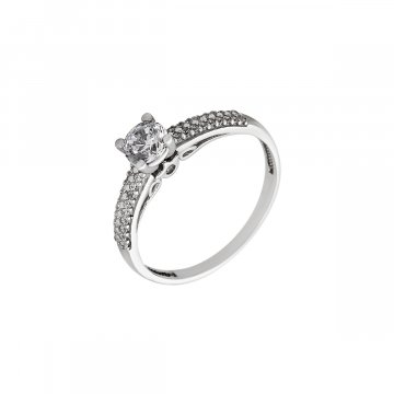 Prsten soliter se syntetickým kamenem 323-226-0542
