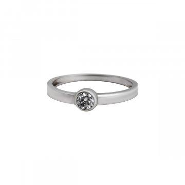 Prsten soliter se syntetickým kamenem 323-588-0138