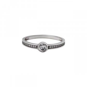 Prsten soliter se syntetickým kamenem 323-588-0139