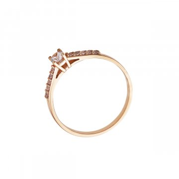 Prsten soliter se syntetickým kamenem 523-185-3381