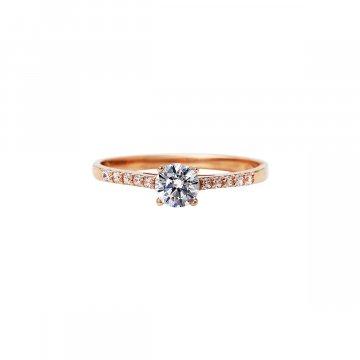 Prsten soliter se syntetickým kamenem 523-185-3382