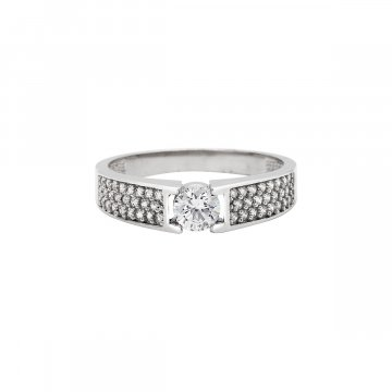 Prsten se syntetickými kameny 326-573-2085