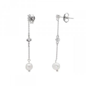 Náušnice se syntetickou perlou 135-393-016247-0000