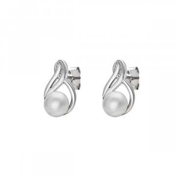 Náušnice se syntetickou perlou 135-393-013473-0000