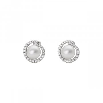 Náušnice se syntetickou perlou 135-393-015344-0000