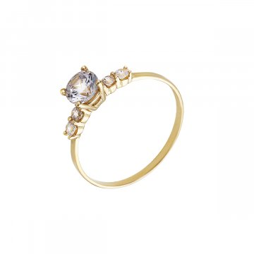 Prsten soliter se syntetickým kamenem 223-185-0023