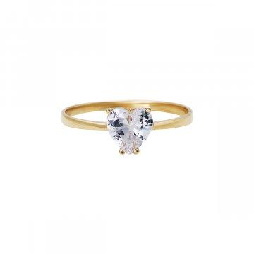 Prsten soliter se syntetickým kamenem 223-185-0045