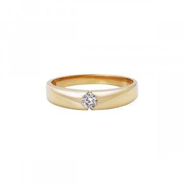 Prsten soliter se syntetickým kamenem 223-185-1777