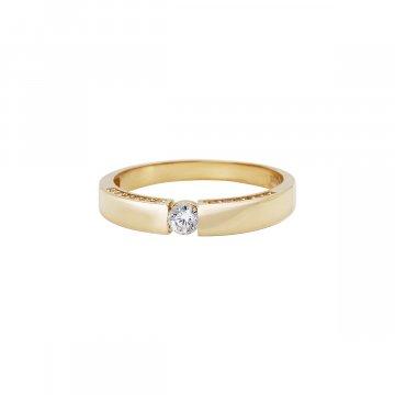 Prsten soliter se syntetickým kamenem 223-185-1969