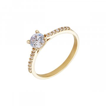 Prsten soliter se syntetickým kamenem 223-185-2289