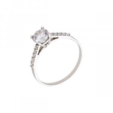 Prsten soliter se syntetickým kamenem 323-185-0024