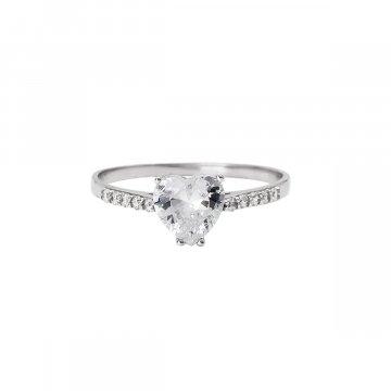 Prsten soliter se syntetickým kamenem 323-185-0048