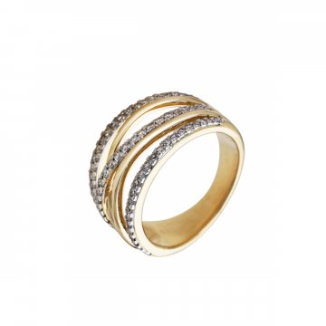 Prsten s brilianty 224-433-0623
