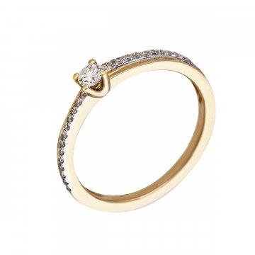 Prsten soliter s briliantem 214-300-9108