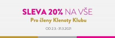 SLEVA 20% PRO ČLENY KLENOTY KLUBU