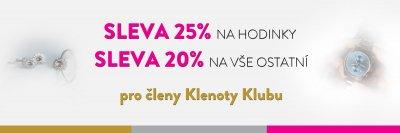 SLEVY AŽ 25% PRO ČLENY KLENOTY KLUBU
