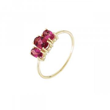 Prsten s přírodními kameny 224-308-6565