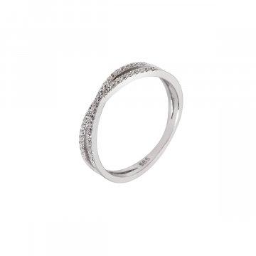 Prsten se syntetickými kameny 326-308-4721
