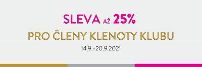 SLEVA až 25% PRO ČLENY KLENOTY KLUBU