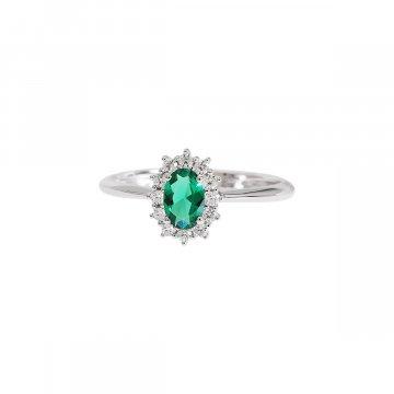 Prsten se syntetickými kameny 326-115-3483