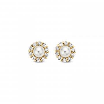 Náušnice s perlou 235-236-000017